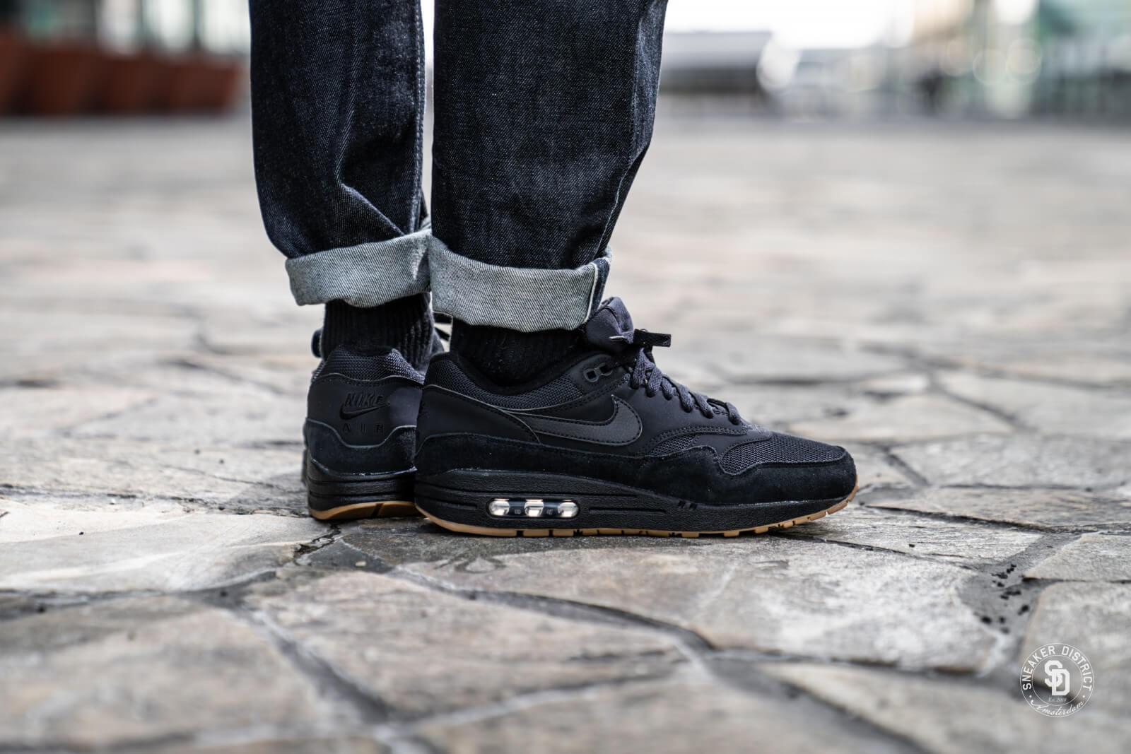 Nike Air Max 1 Black/Black-Gum