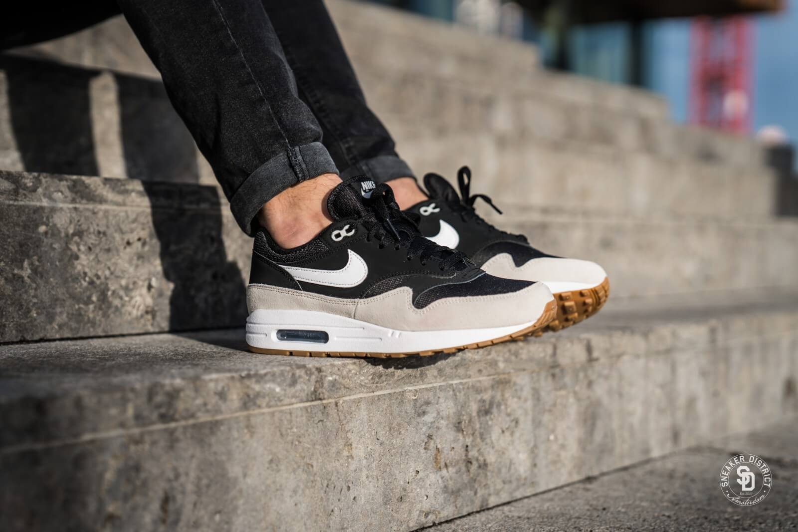 Nike Air Max 1 BlackWhite Light Bone AH8145 009