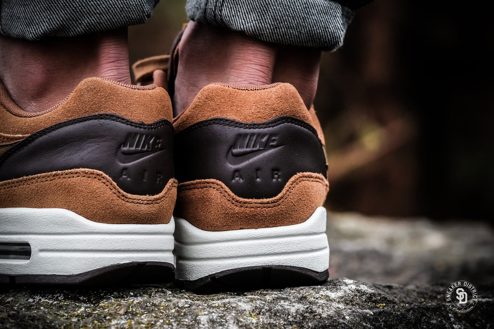 Nike Air Max 1 Premium Leather Ale Marron/Oren Beige Baroque Marron