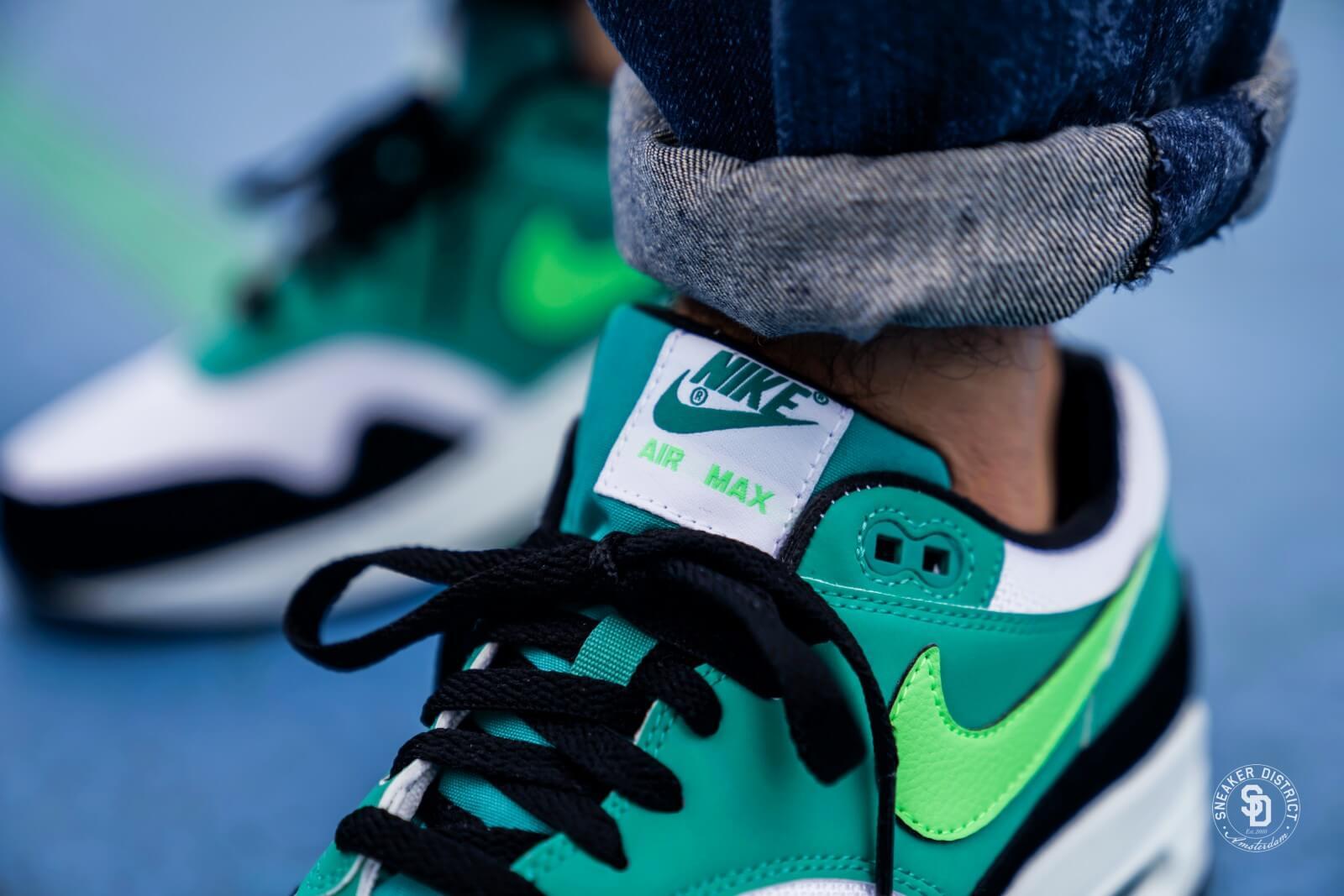 Nike Air Max 1 WhiteGreen Strike Neptune Green AH8145 107