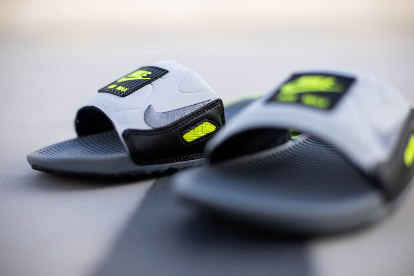 Nike Air Max 90 Slide Smoke GreyVolt Black BQ4635 001
