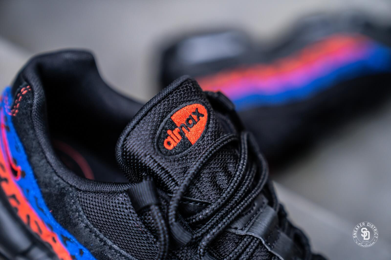 Nike Air Max 95 Premium Black Leopard Habanero RedRacer Blue CD0180 001