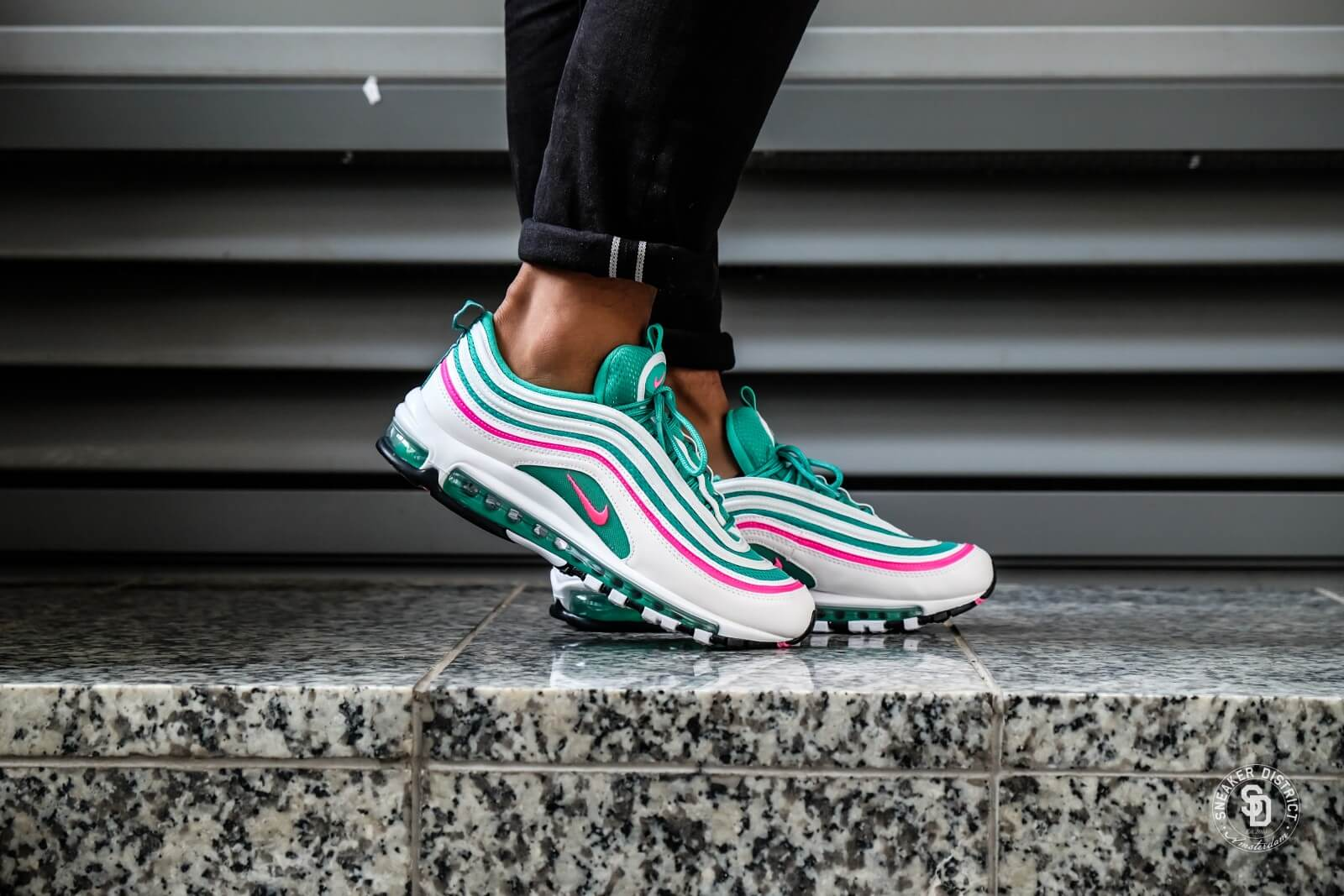 Nike Air Max 97 WhitePink Blast Kinetic Green 921826 102