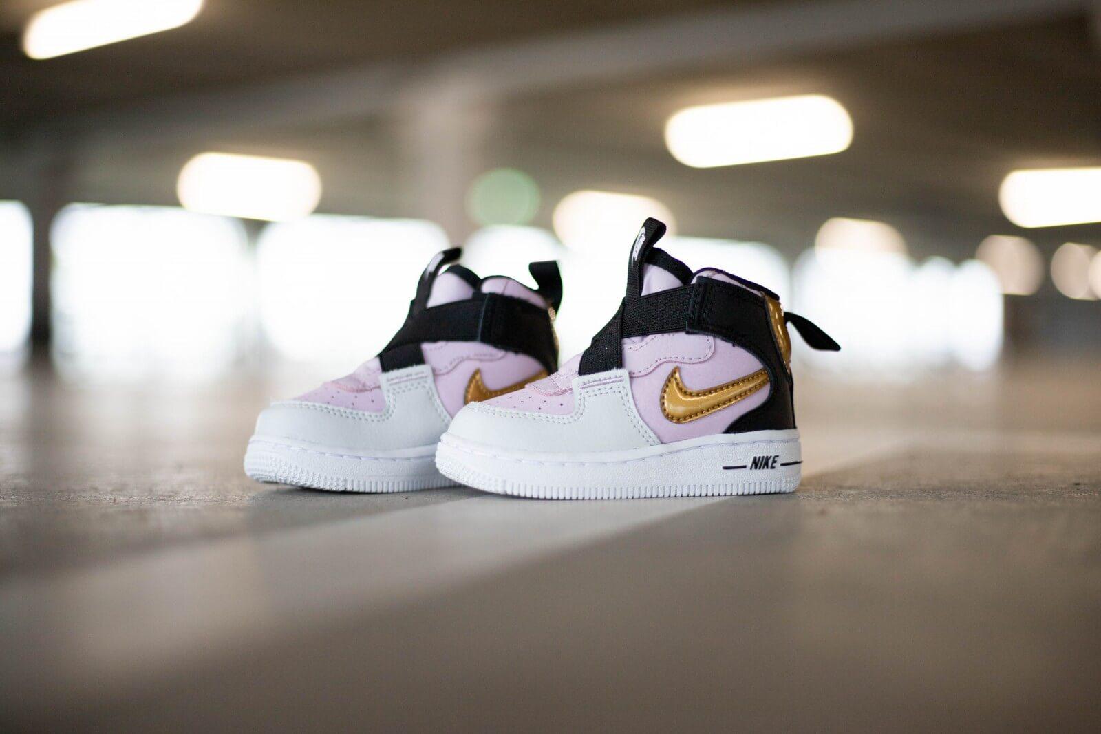 Nike Force 1 Highness Toddler Iced LilacMetallic Gold BQ3600 500