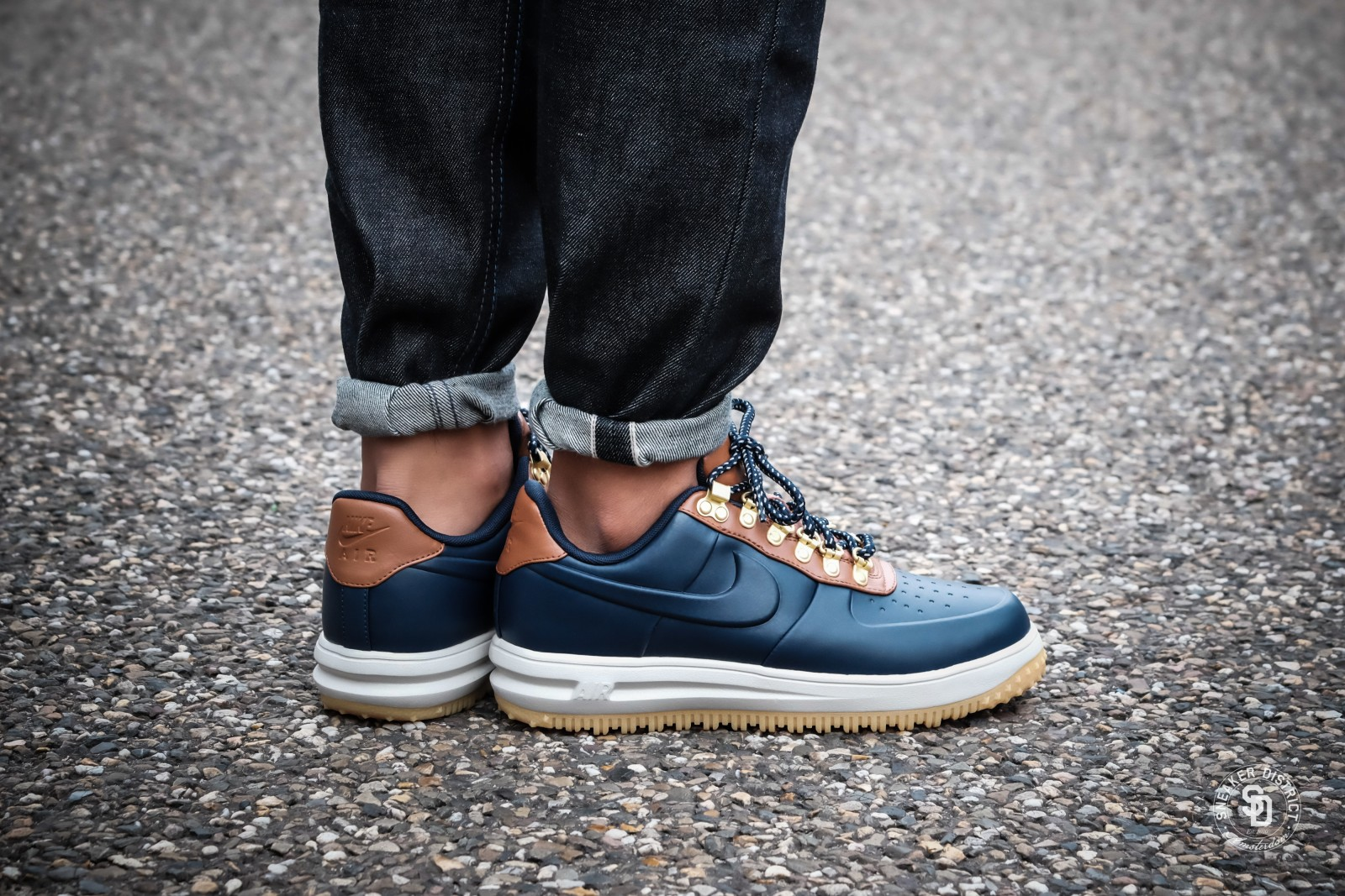Nike Lunar Force 1 Low Duckboot Obsidian/Saddle Brown