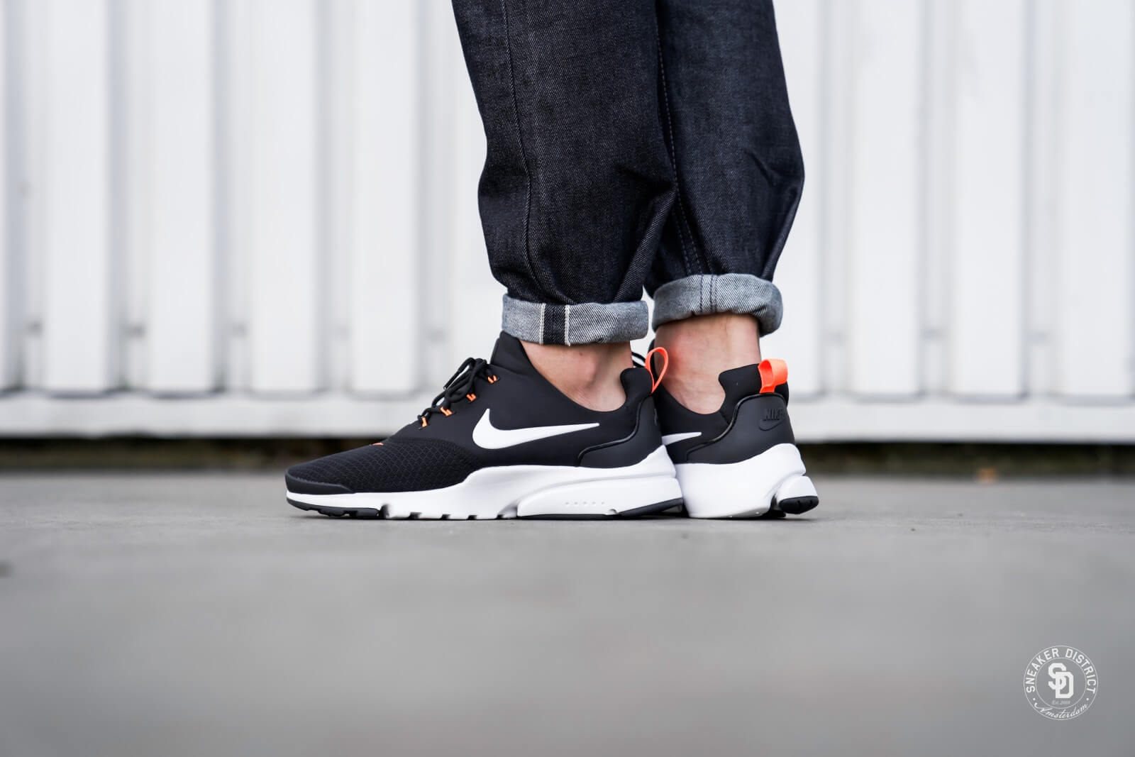 Nike Presto Fly Just Do It Black/White-Total Orange - AQ9688-001