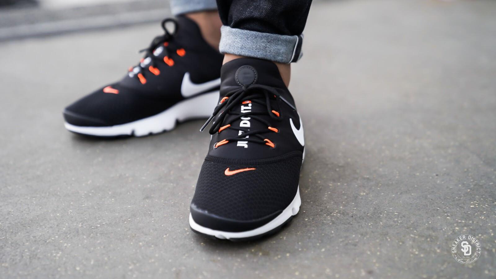 Nike Presto Fly Just Do It Black/White-Total Orange