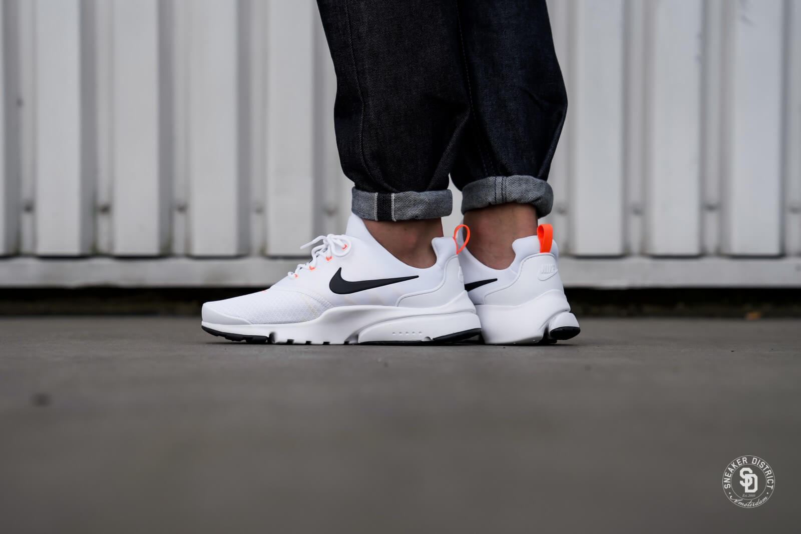 Nike Presto Fly Just Do It White/Black-Total Orange - AQ9688-100