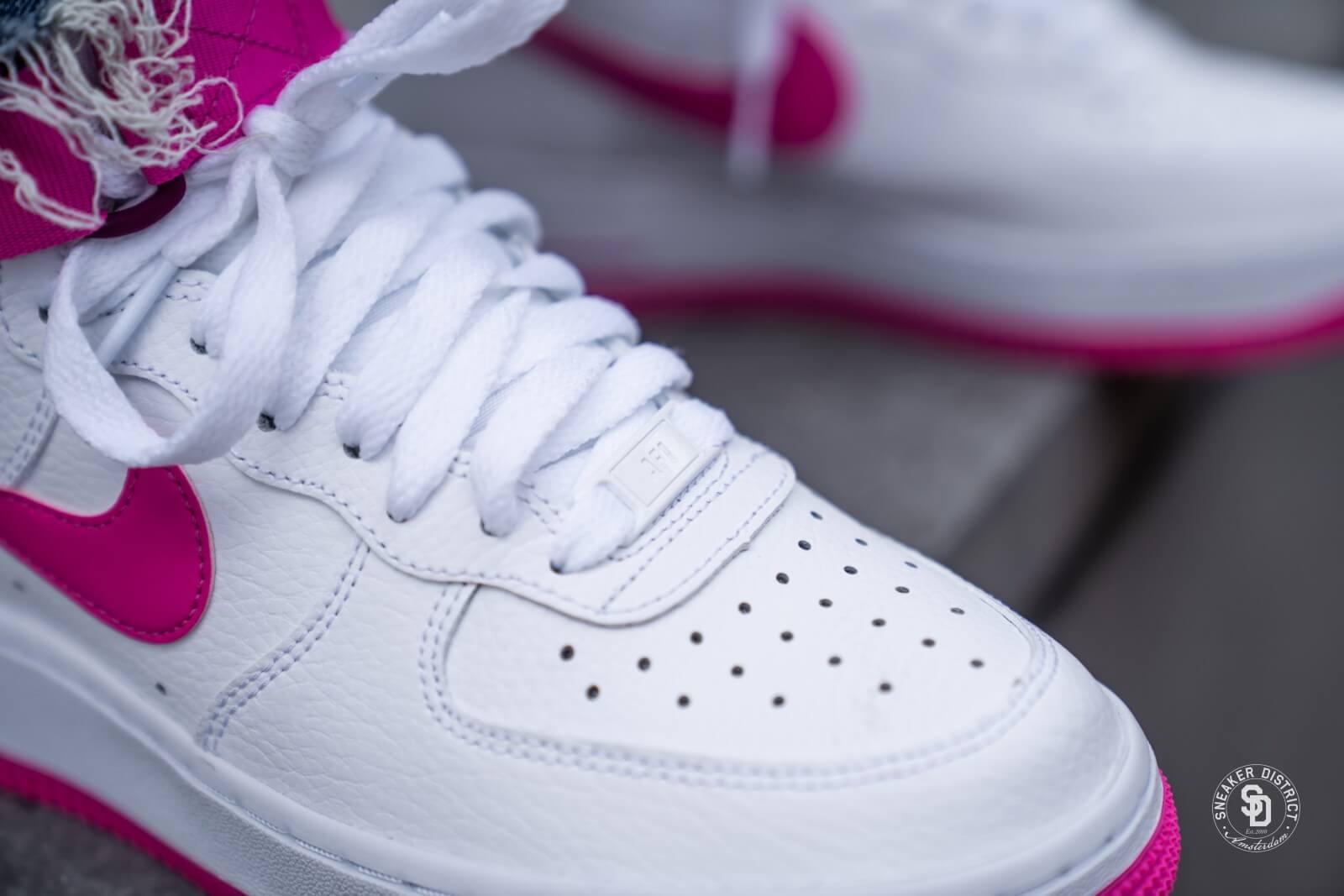 Nike Women's Air Force 1 High WhiteLaser Fuchsia True Berry