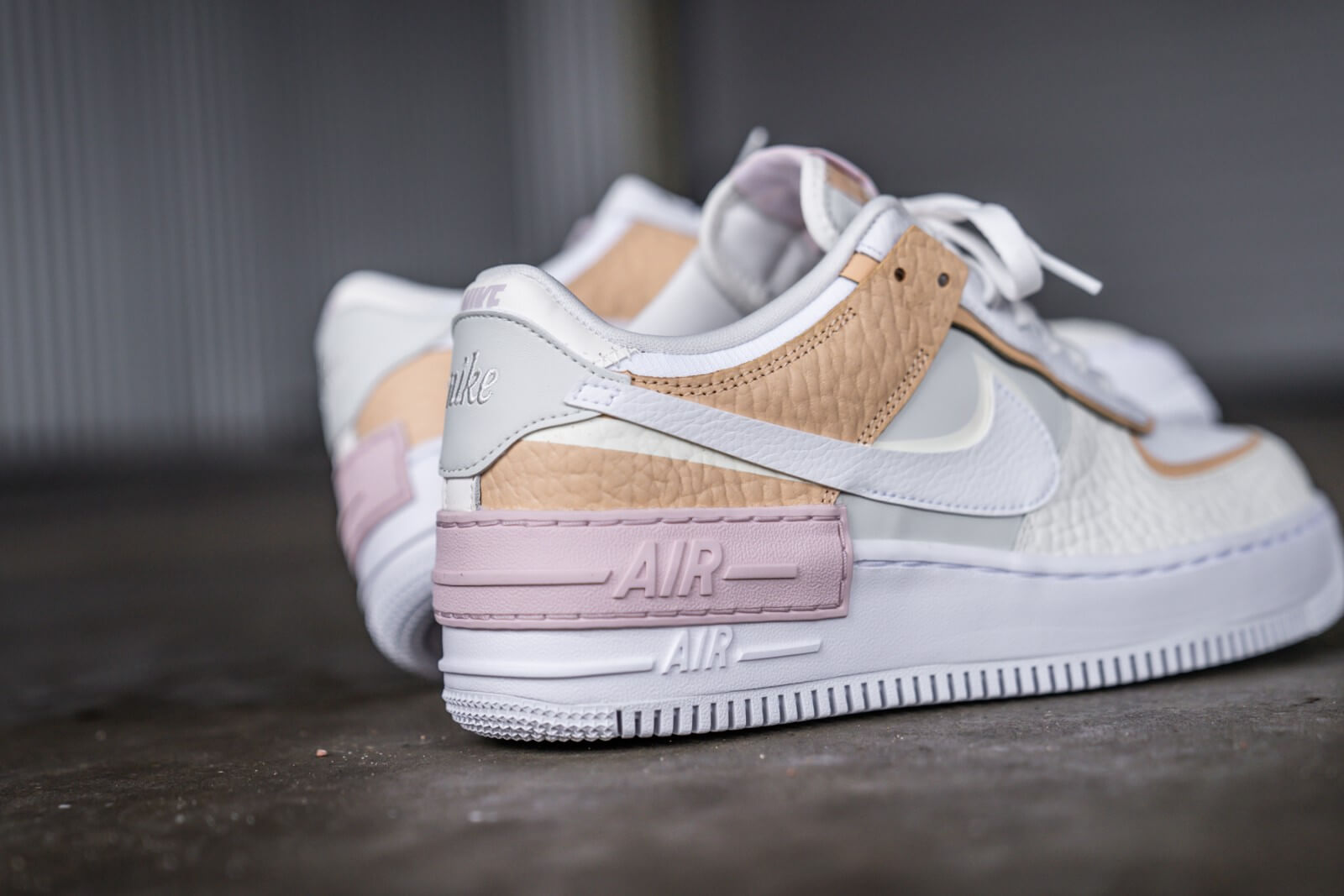 air force 1 shadow blanc rose femme