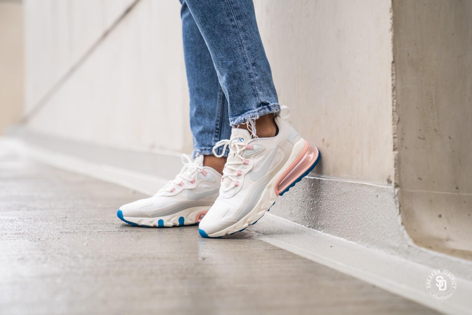 Nike Women's Air Max 270 React Summit WhiteGhost Aqua