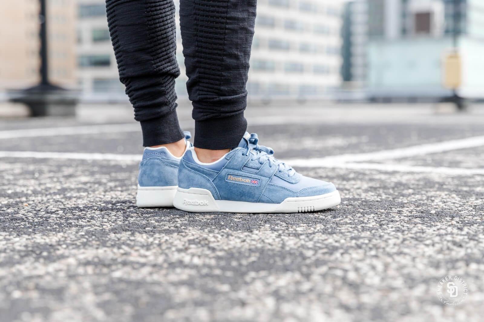 Reebok Women's Workout LO Plus Blue Sneaker District