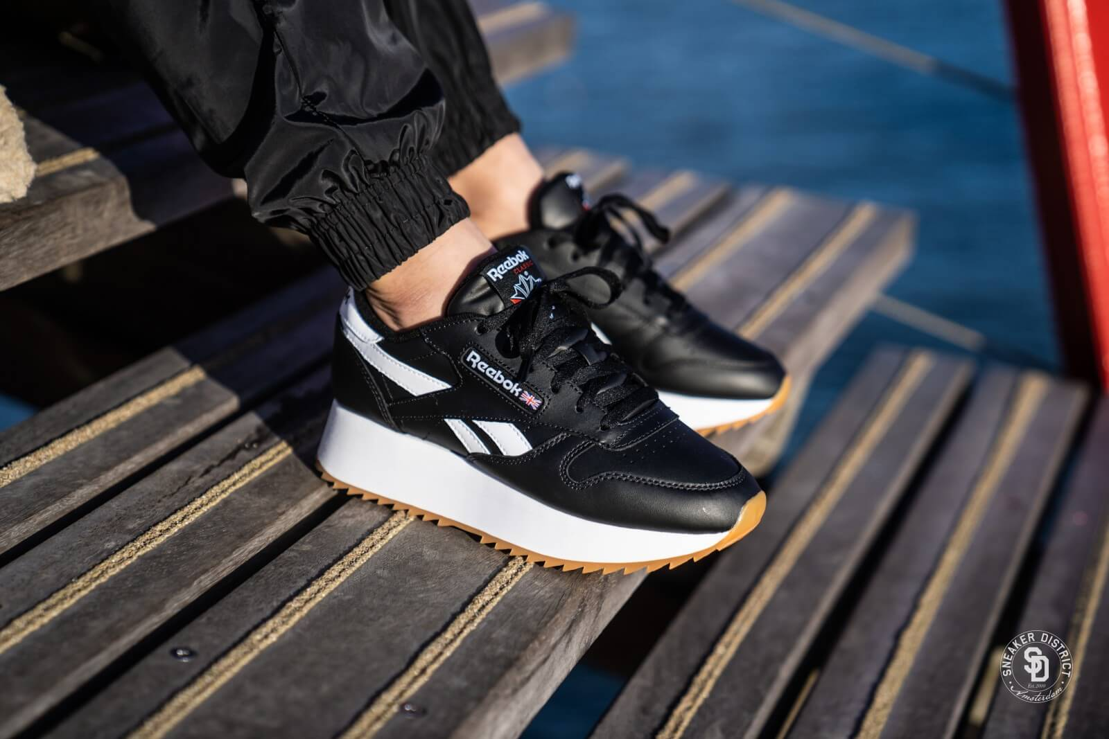 Reebok Classic Leather Double BlackWhitePrimal Red DV3631