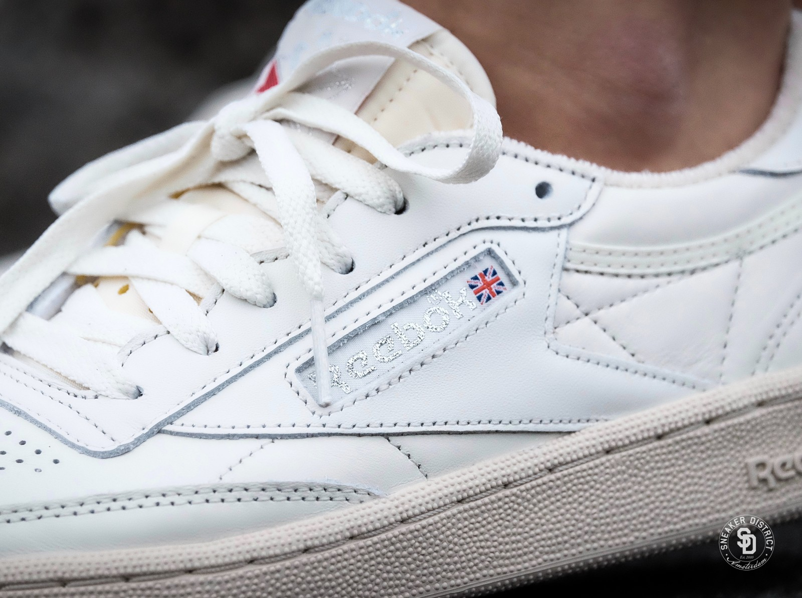 1381d2f245a Reebok Club C 85 Vintage Chalk Silver White Red - BS8243