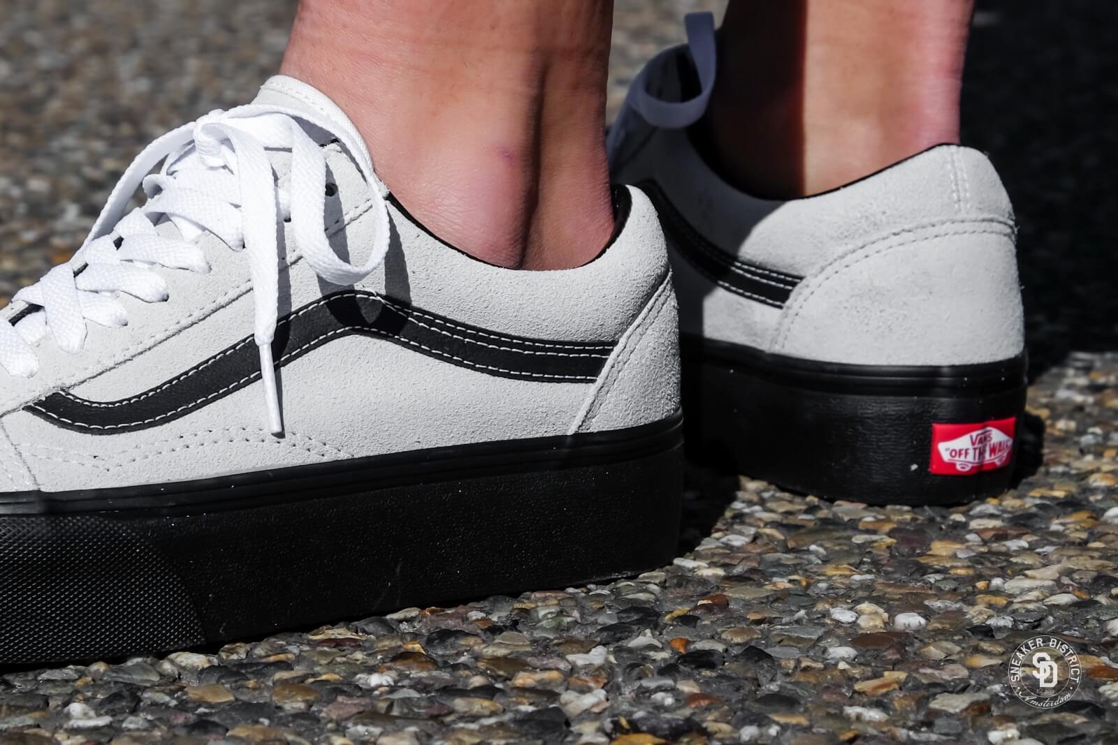 Vans Old Skool Platform Suede Blanc de Blanc Black VNOA3B3UOIP