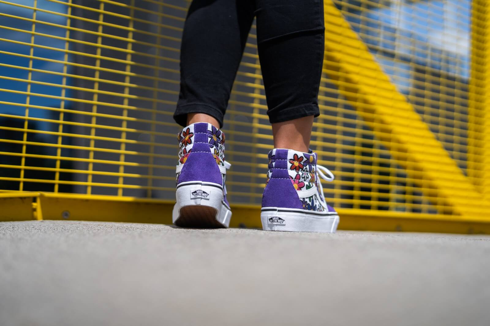vans platform femme rainbow