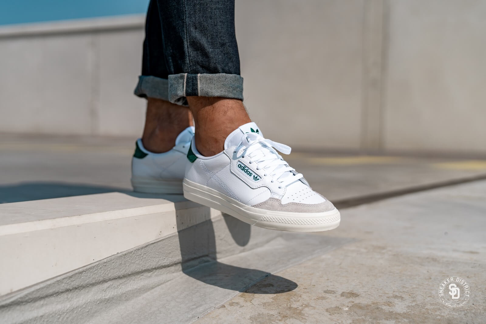 Adidas Continental Vulc Cloud White/Collegiate Green - EF3534