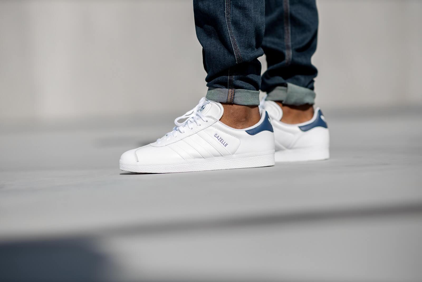 Adidas Gazelle Footwear WhiteDark Blue FU9487