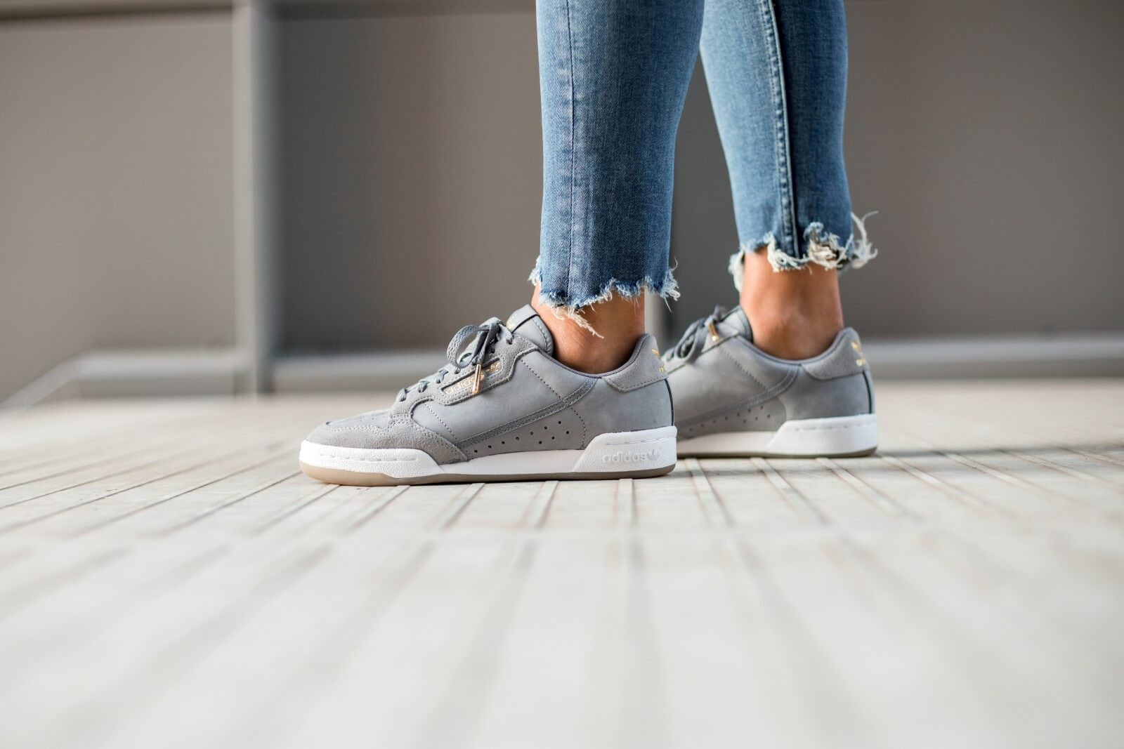 Adidas Women's Continental 80 Grey ThreeSesame EH2623