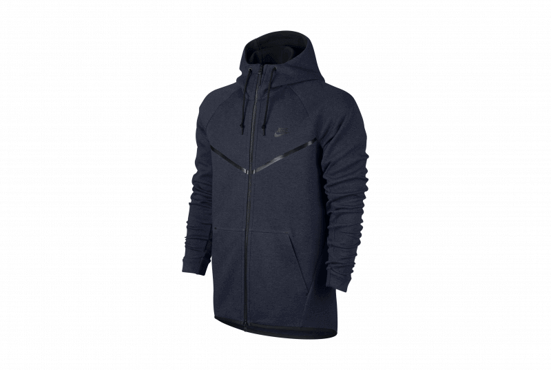 Nike Sportswear Tech Fleece Windrunner Hoodie ObsidianHeatherBlack 805144 451