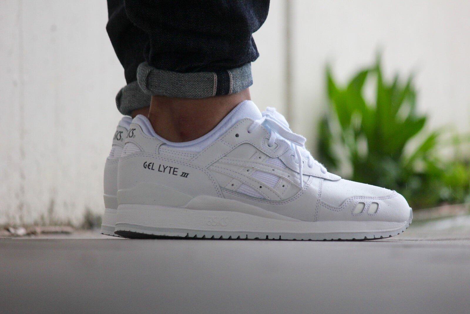 asics gel lyte iii schoenen wit