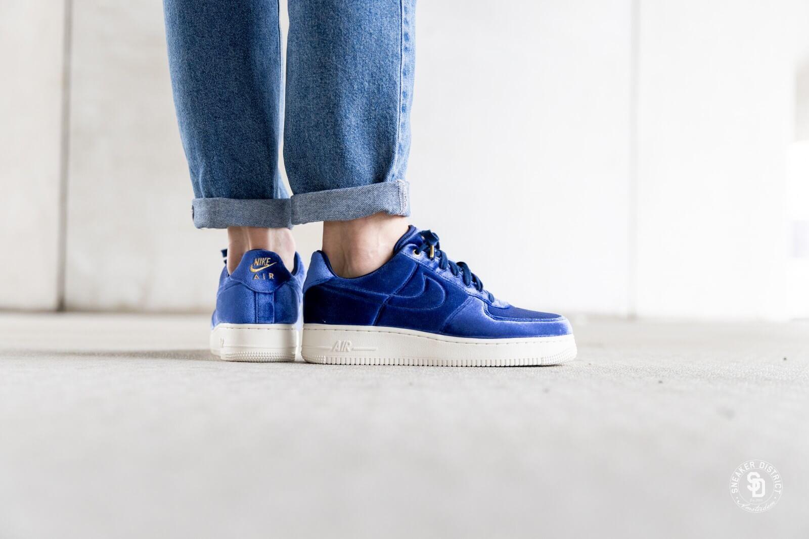 air force 1 velour bleu
