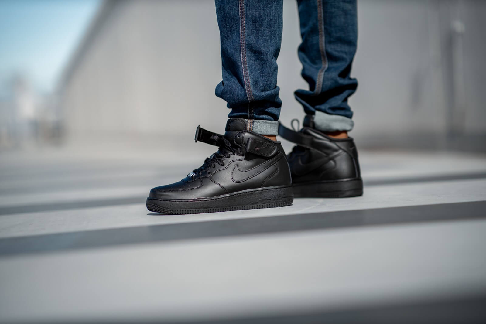 air force 1 mid 07 grey