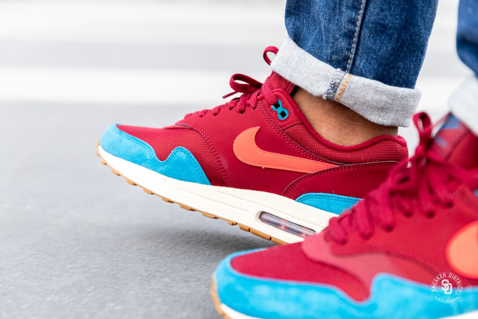 free shipping nike air max 1 red team red 4271c c9c94