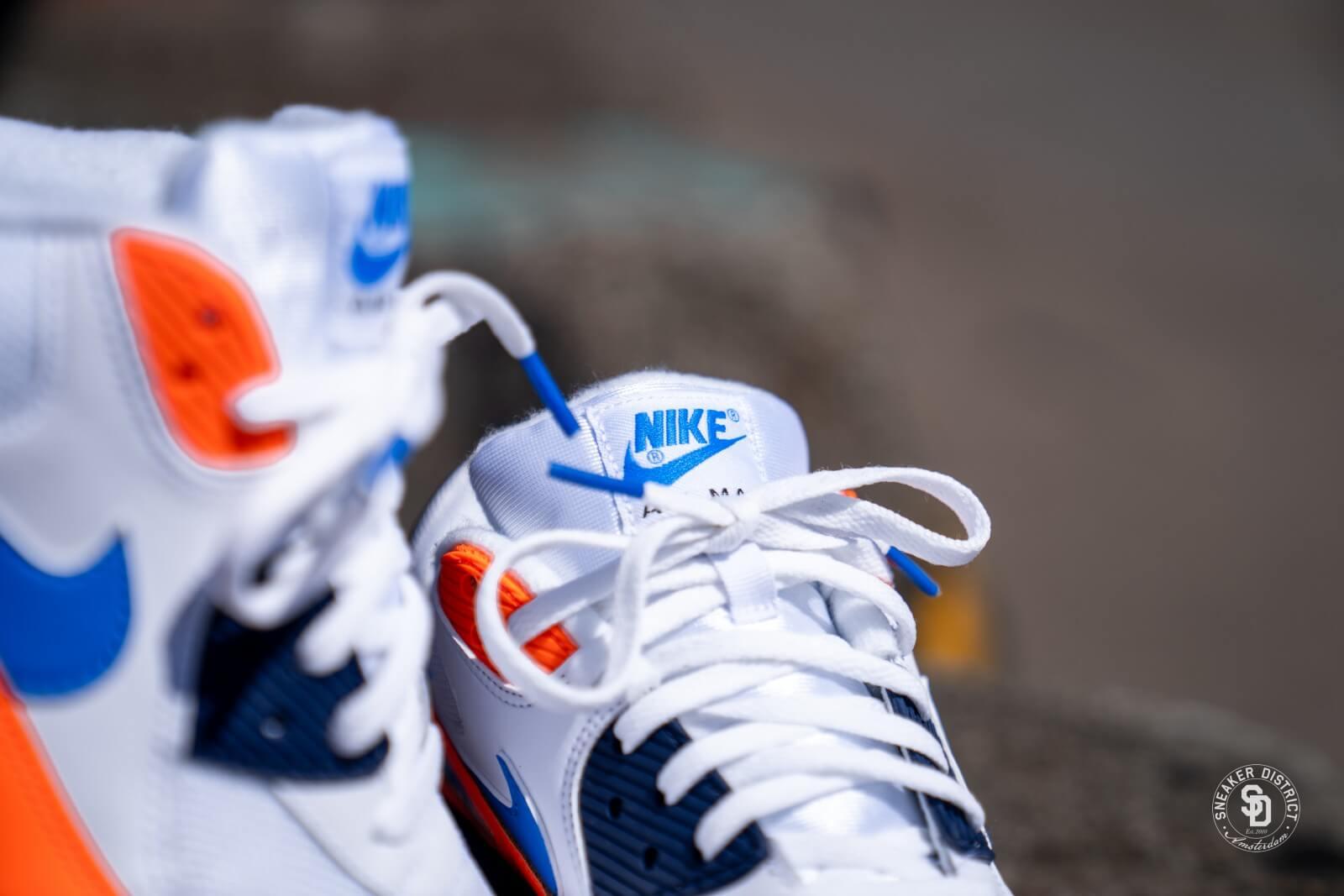 air max 90 orange and blue