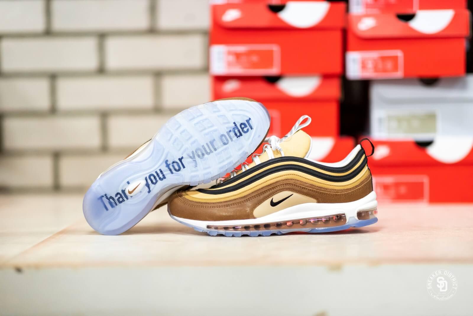 Nike Air Max 97 Shipping Box Ale BrownBlack Elemental Gold 921826 201