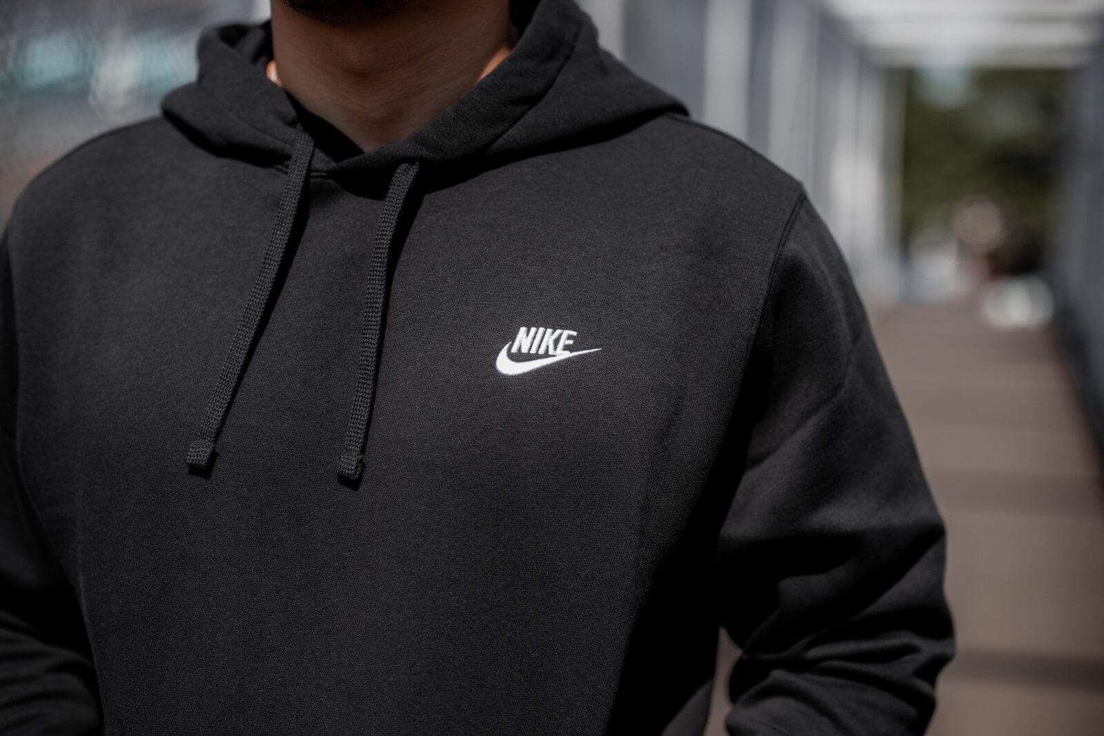 Nike NSW Club Fleece Hoodie BlackWhite BV2654 010
