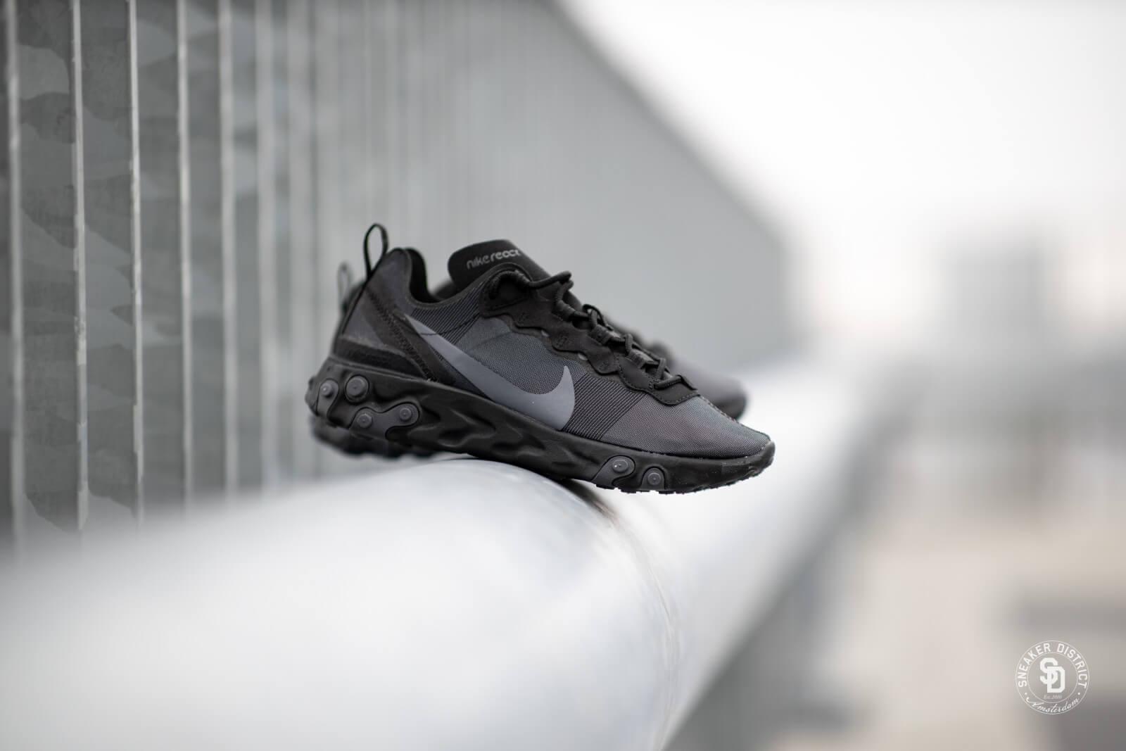Nike React Element 55 BlackDark Grey BQ6166 008