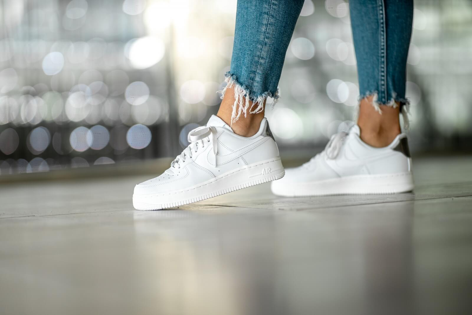 air force 1'07 blanc rose femme