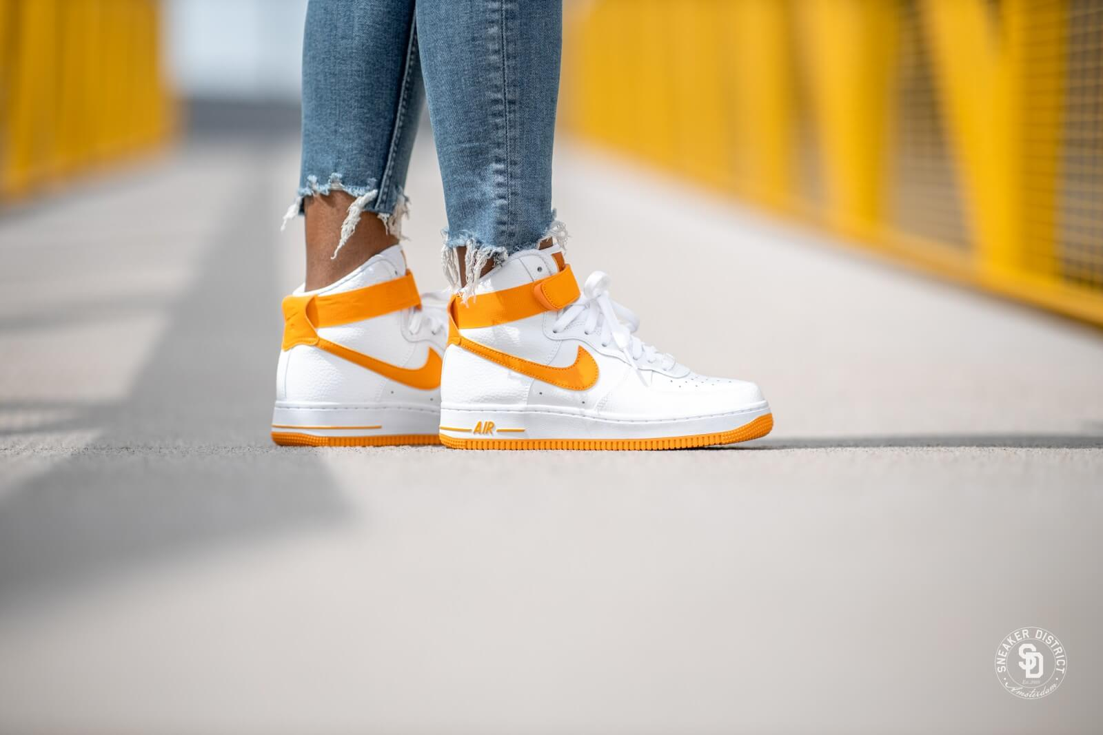 Nike Women's Air Force 1 High White/Orange Peel