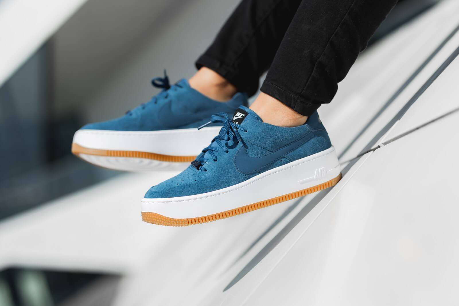 Nike Women's Air Force 1 Sage Low Blue ForceBlack White