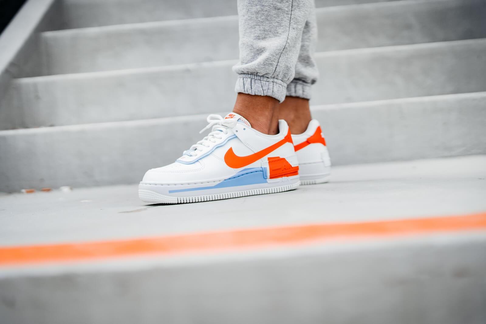 Nike Air Force 1 Shadow Summit White Team Orange : Release