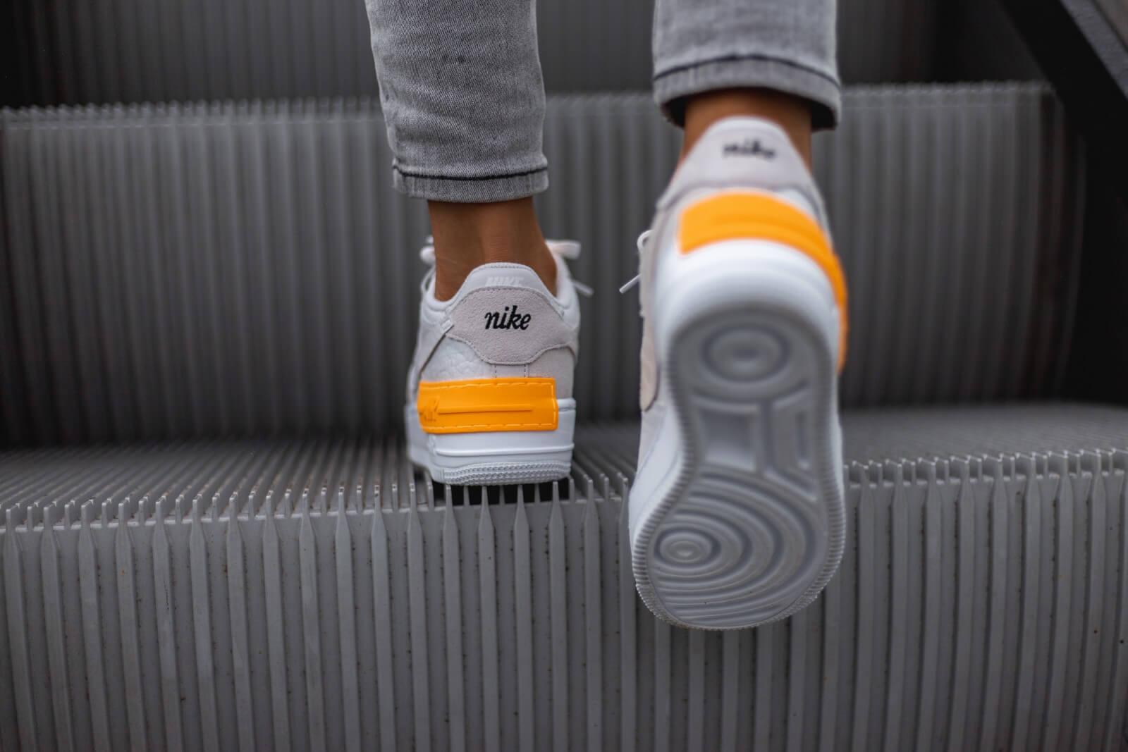 Nike Women's Air Force 1 Shadow Vast Grey/Laser Orange