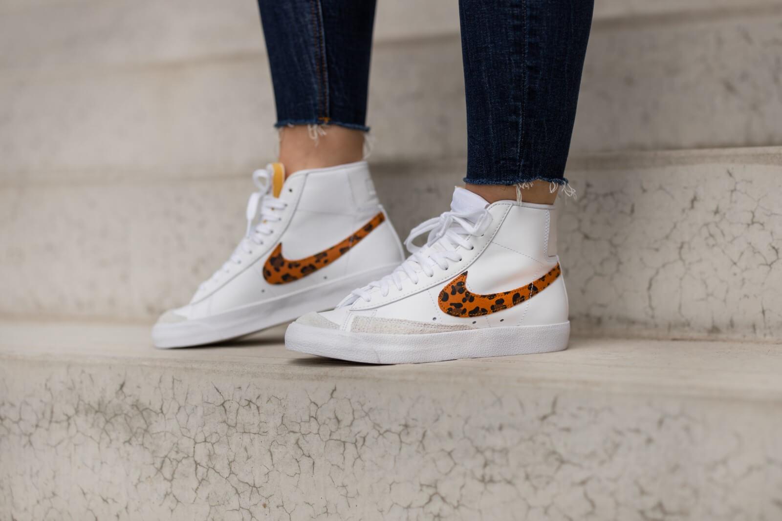 Nike Women's Blazer Mid' 77 Leopard White