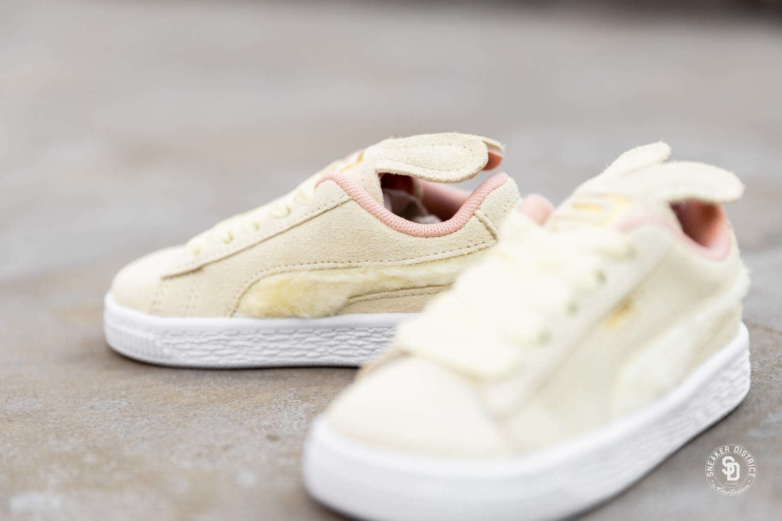 Puma Suede Easter AC Infant YellowCoral Cloud Gold 36894601