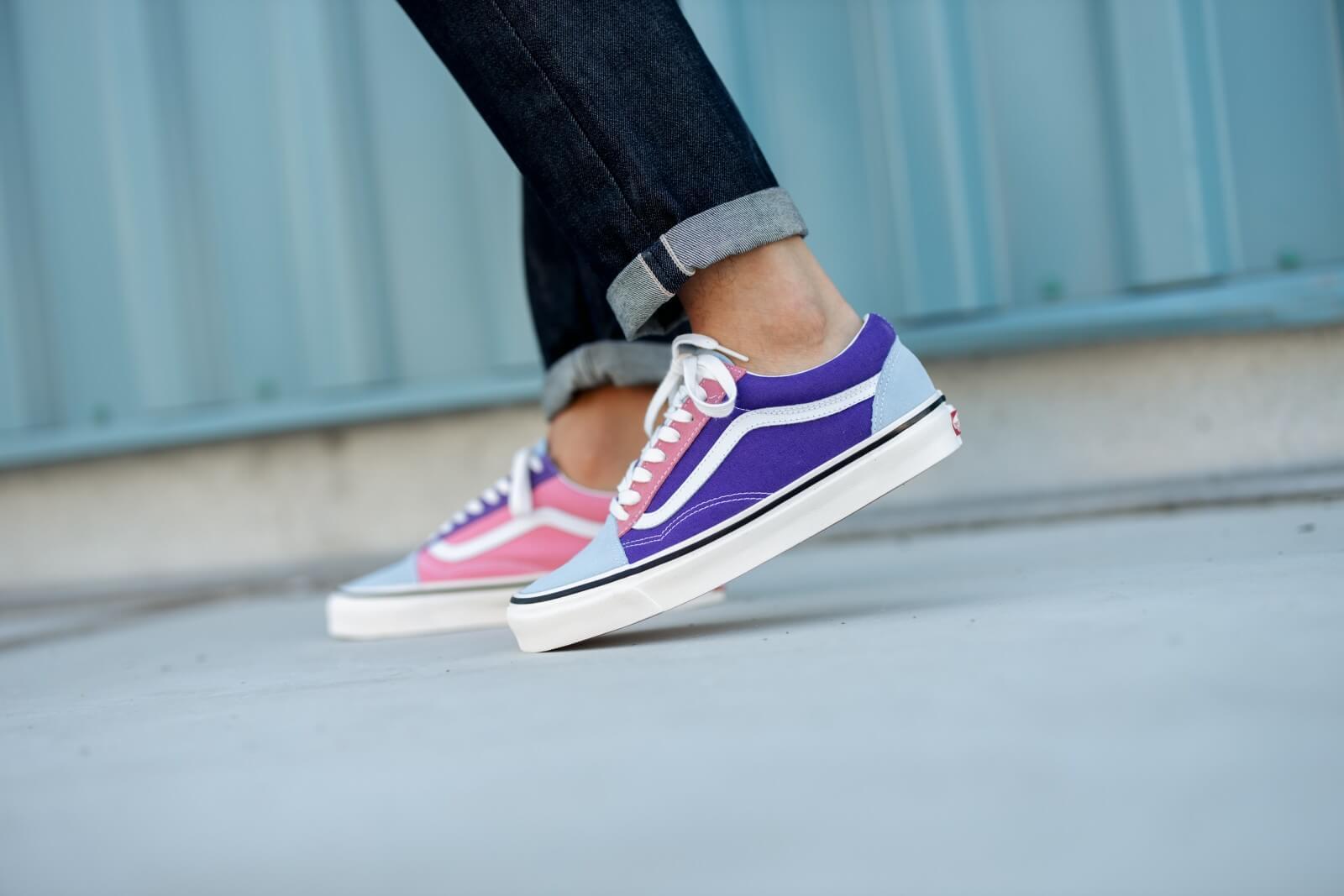 Vans Old Skool 36 DX Anaheim Factory OG Light Blue/Purple-Pink ...