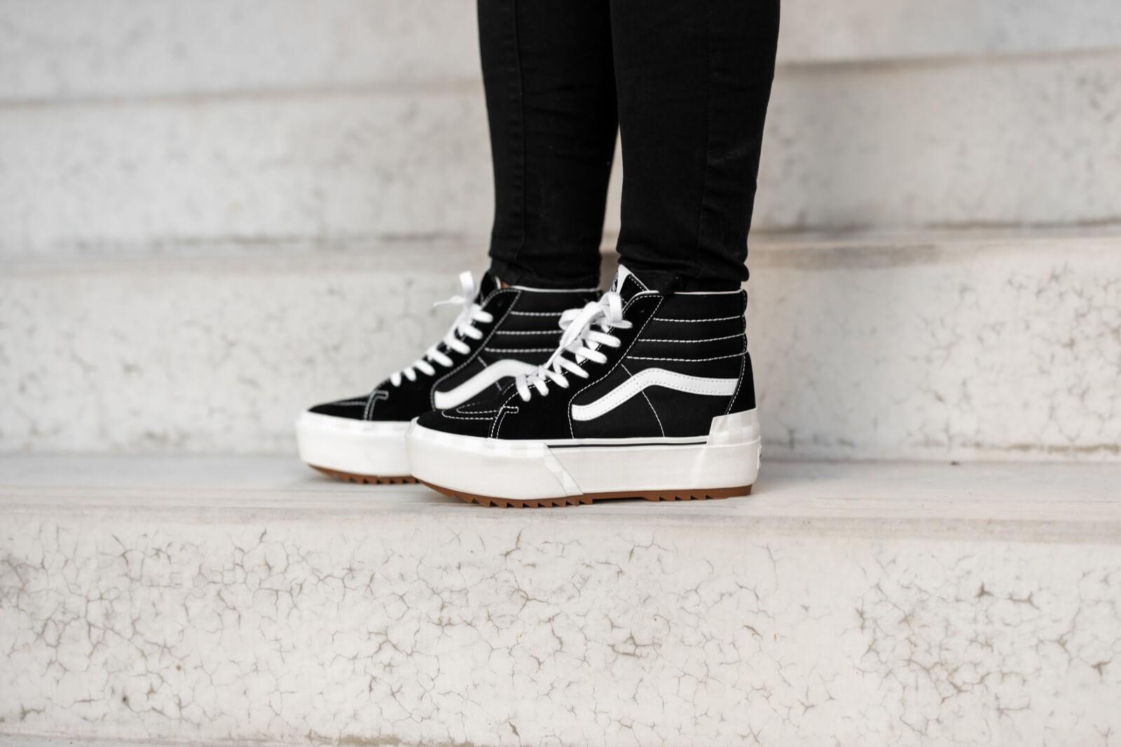 Vans Women's Sk8-Hi Stacked Black/True White
